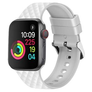 NEW[BAND] WHITE Rhomboid Silicone For Apple Watch